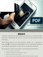 PHI Breach - Dealing Breach With HIPAA Guidelines