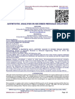 ASYMTOTIC ANALYSIS IN SECURED MESSAGE DELIVERY