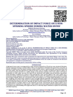 DETERMINATION OF IMPACT FORCE ON A NON-SPINNING SPHERE DURING WATER ENTRY