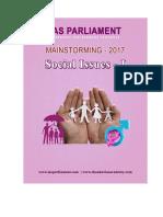 IAS Parliament Social Issues Part I