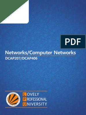 Dcap207 Networks Dcap406 Computer Networks Network