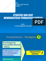 Strategy Penerimaan Daerah Paparan