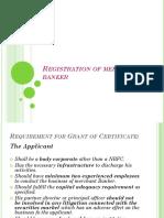 Registration of Merchant Banker