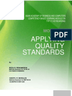 Module 7 Applying Quality Standards