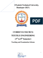 Textile Engg. 3rd to 8th Sem CBCS
