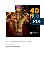40th Elche International Independent Film Festival. Official Section. Documentary.