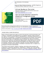 Can Terrorism Become a Scientific Discipline a Diagnostic Study