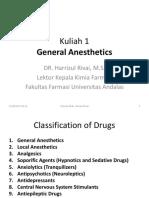 Kuliah 1 Anestesi Umum
