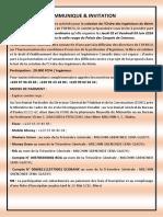 Assemblee Generale Extraordinaire (Ordre Des Ingenieurs Du Benin)