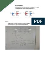 University of Surrey MSc RF Systems Week 9 Group Tasks - basics of amplifiers