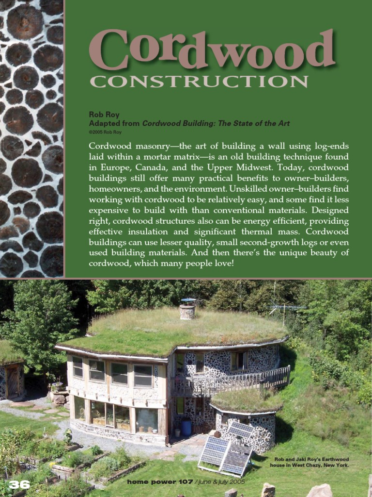 Cordwood Construction Pdf Structural Engineering Architectural Design