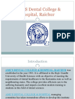 AME's Dental College & Hospital Raichur