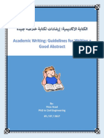 Guidelines for Writing a Good Abstract