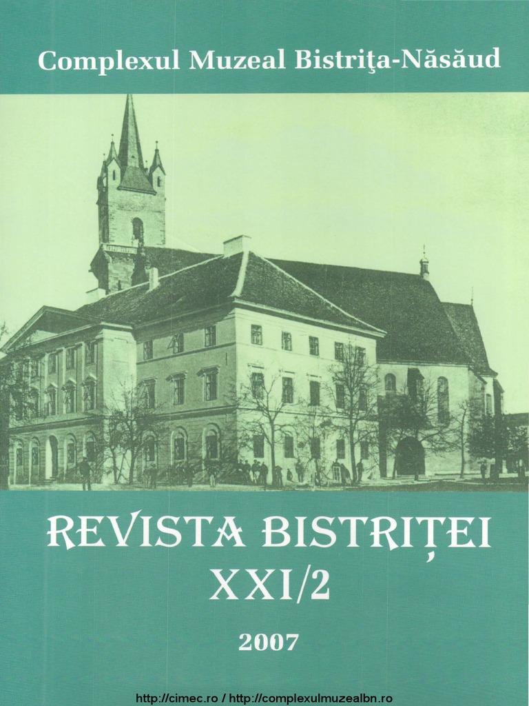 revista-bistritei-XXI-2-2007 pdf