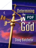 Determining the Will of God - Doug Batchelor