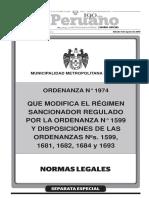 ORDENANZA MML N°1974