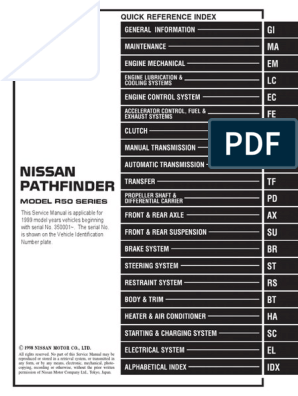 [DIAGRAM_1JK]  1999 NISSAN PATHFINDER Service Repair Manual.pdf | Technology | 1999 Nissan Pathfinder Wiring Schematic |  | Scribd