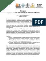 Convocatoria ColoquioReformaSureste