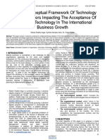 Toward a Conceptual Framework of Technology Adoption Factors Impacting the Acceptance of the Mobile Technology in the International Business Growth