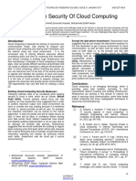 Analysis on Security of Cloud Computing