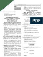 Ley que modifica el artículo 9 restituye el artículo 13 e incorpora los artículos 26 27 y 28 al Decreto Legislativo 559 Ley de Trabajo Médico