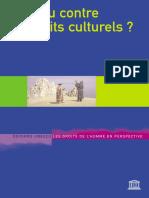 Les Droits Culturels Pour Ou Contre