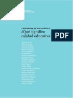 UNIPE Cuaderno de Discusión Nº 31 Calidad Educativa