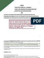Instructivo Formatos Productos 2016