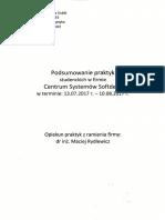 Podsumowanie Praktyk Studenckich - M.kubik K.wójciak 2017 (ID 40489)