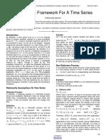 Probabilistic Framework for a Time Series