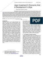 The Role of Foreign Investment in Economic and Social Development in Libya