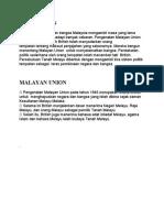 NOTA MALAYAN UNION