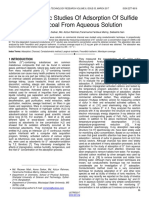 Conductometric Studies of Adsorption of Sulfide on Charcoal From Aqueous Solution