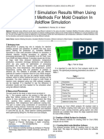 Comparison of Simulation Results When Using Two Different Methods for Mold Creation in Moldflow Simulation