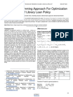 Integer Programming Approach for Optimization of Library Loan Policy