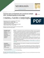 Consenso Para El Tratamiento de La Esclerosis Múltiple