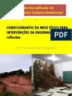 Geotecnia Aplicada ao Planejamento Ambiental e Urbano (UFABC)
