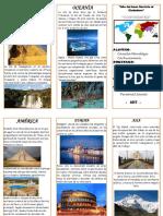Triptico Ok - Lugares Turisticos Continente