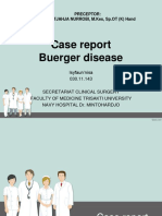 Case Report Buerger Disease Ppt