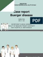 Case Report Buerger Disease Ppt