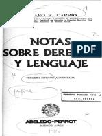 Carrió, Genaro - Notas Sobre Derecho y Lenguaje