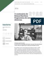 Roland Barthes - O centenário de Roland Barthes