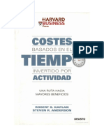 Costes basados en el tiempo invertido por actividad TDABC Kaplan