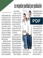 11-08-17 Prometen priistas respetar paridad por población