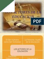 Tutoria_tema_6_los Actores de La Educación