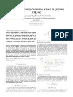 Análisis de comportamiento del sensor FSR04