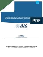 Politica de Atencion a La Poblacion Con Discapacidad Usac Acuerdo