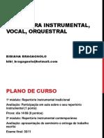 Literatura instrumental vocal e orquestral