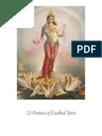 21 Praises of Exalted Tara Print