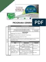 Programa General Xviii Conades - Oficial